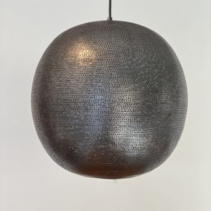 Rund metal lampe sirocco living