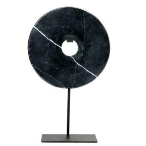 marmor dekoration i sort
